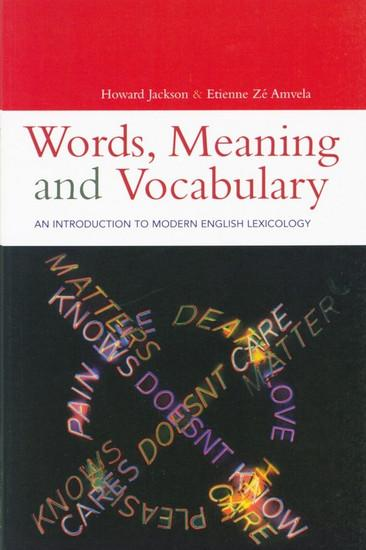 Words Meaning and Vocabulary front cover